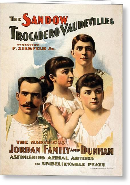 The Sandow Trocadero Vaudevilles, 1894 Greeting Card