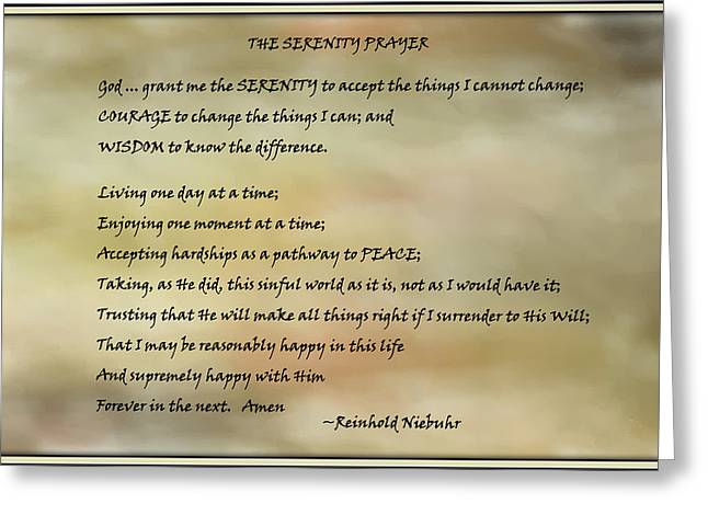The Serenity Prayer 3 Greeting Card