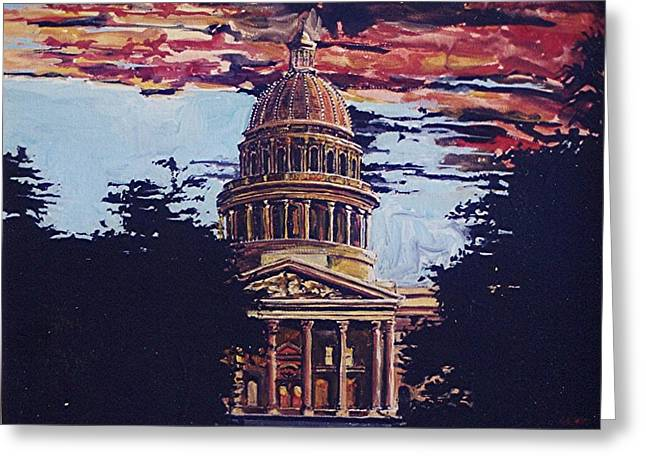 The State Capitol Greeting Card by Paul Guyer