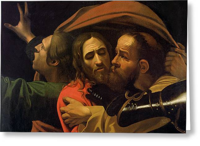 The Taking Of Christ Greeting Card by Michelangelo Caravaggio