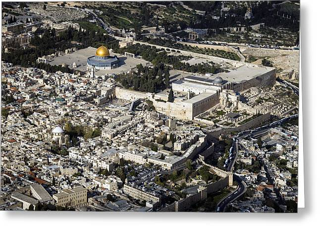 The Temple Mount And The Old City Greeting Card