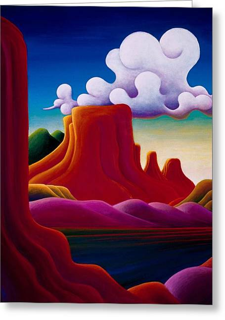 Greeting Card featuring the painting The Tomb Lake Powell by Richard Dennis