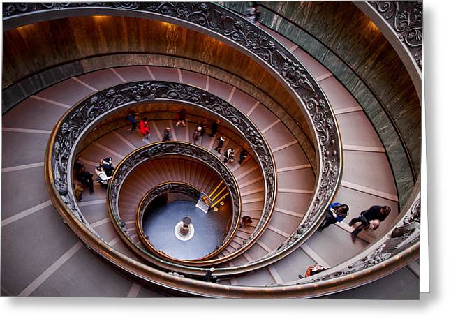 The Vatican Stairs Greeting Card