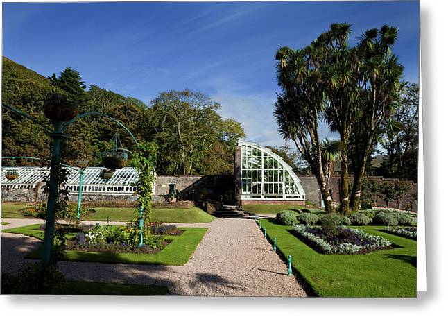 The Victorian Walled Garden, Kylemore Greeting Card by Panoramic Images