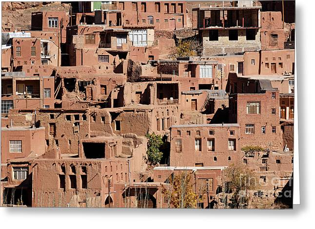The Village Of Abyaneh In Iran Greeting Card by Robert Preston
