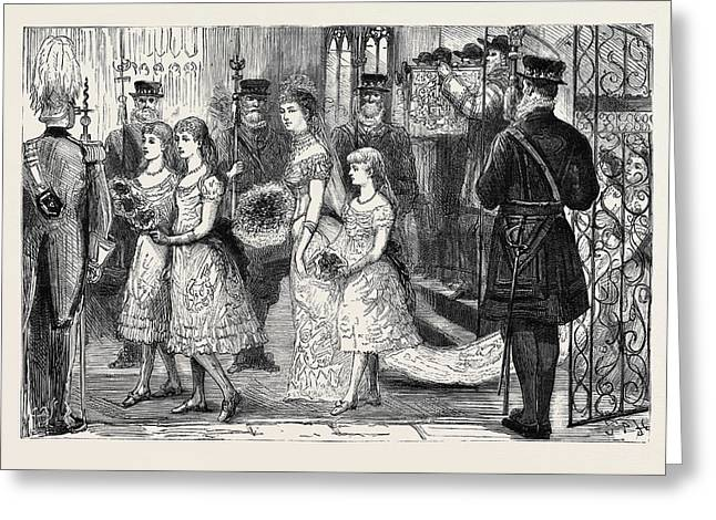 The Wedding Procession In St Greeting Card by English School