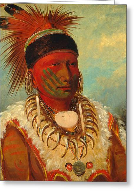 The White Cloud. Head Chief Of The Iowas  Greeting Card