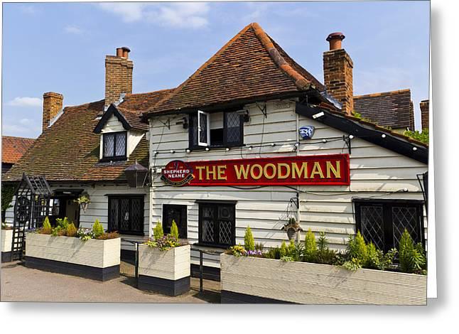 The Woodman Pub Greeting Card