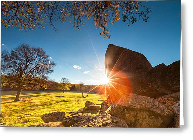 Thracian Sanctuary Greeting Card by Evgeni Dinev