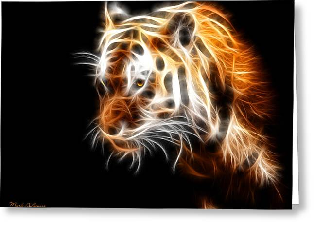 Tiger  Greeting Card by Mark Ashkenazi