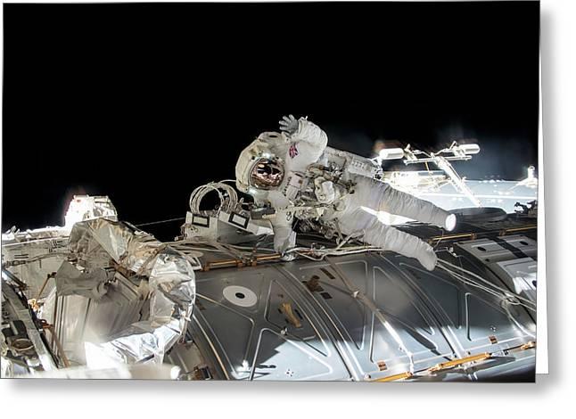 Tim Peake's Spacewalk Greeting Card by Nasa