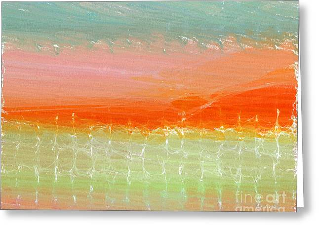 2 Timothy 1-7. Painting With Light- Scripture Text Infused Greeting Card by Mark Lawrence