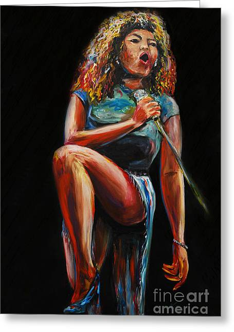 Tina Turner Greeting Card by Nancy Bradley