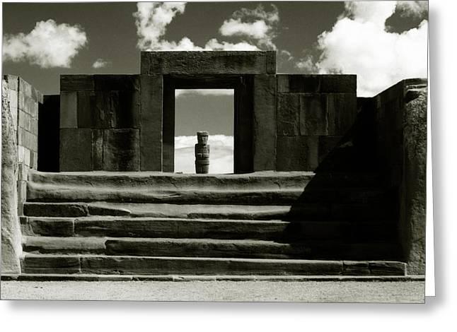 Greeting Card featuring the photograph Tiwanaku by Amarildo Correa