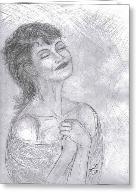 Greeting Card featuring the drawing To Hope by Desline Vitto