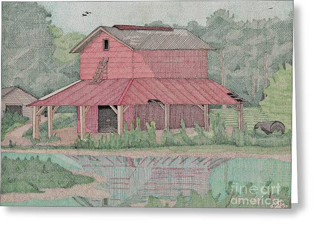 Tobacco Barn Greeting Card by Calvert Koerber