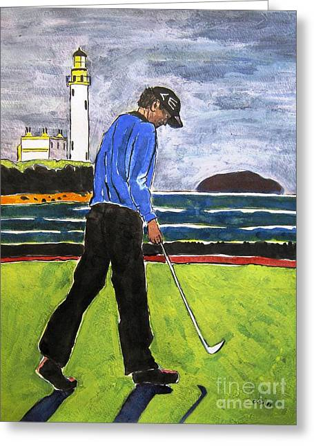 Tom Watson Turnberry 2009 Greeting Card by Lesley Giles