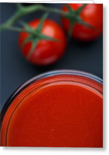 Tomato Juice Greeting Card by Nailia Schwarz