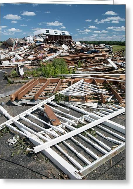 Tornado Damage Greeting Card