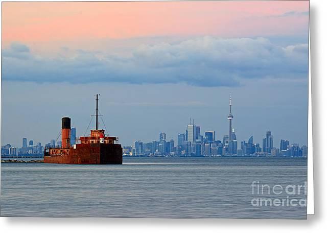 Toronto At Dusk Greeting Card