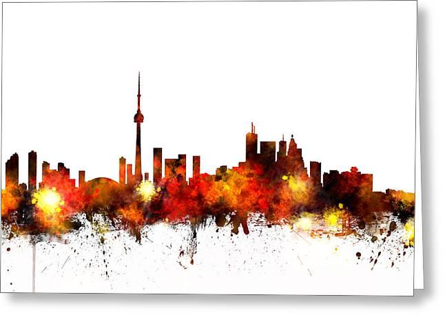 Toronto Canada Skyline Greeting Card