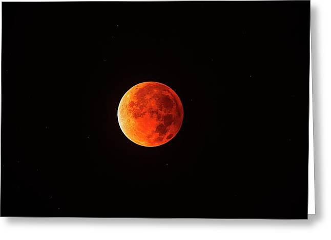 Total Lunar Eclipse Greeting Card by Juan Carlos Casado (starryearth.com)