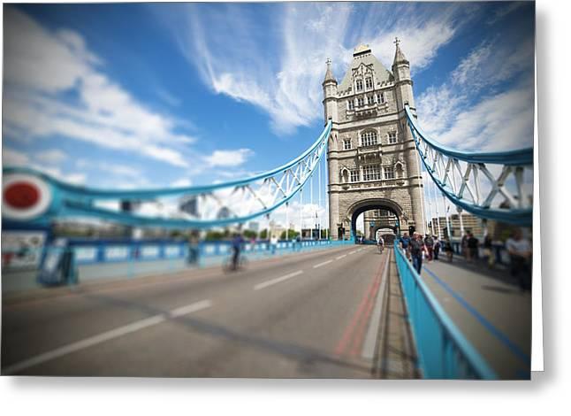 Tower Bridge In London Greeting Card by Chevy Fleet