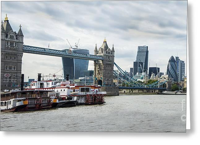 Tower Bridge London Greeting Card by Donald Davis