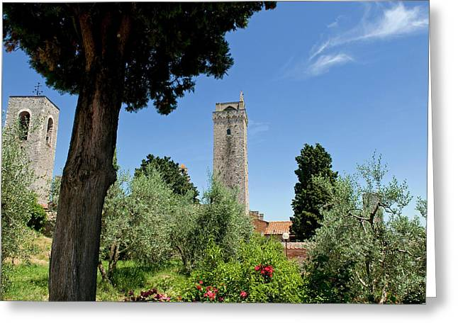 Towers Of San Gimignano, Unesco World Greeting Card