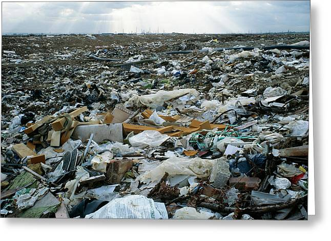 Toxic Waste Dump Greeting Card by Robert Brook/science Photo Library
