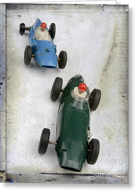 Toy Race Cars Greeting Card