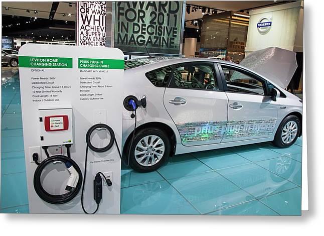 Toyota Prius Electric Car Greeting Card