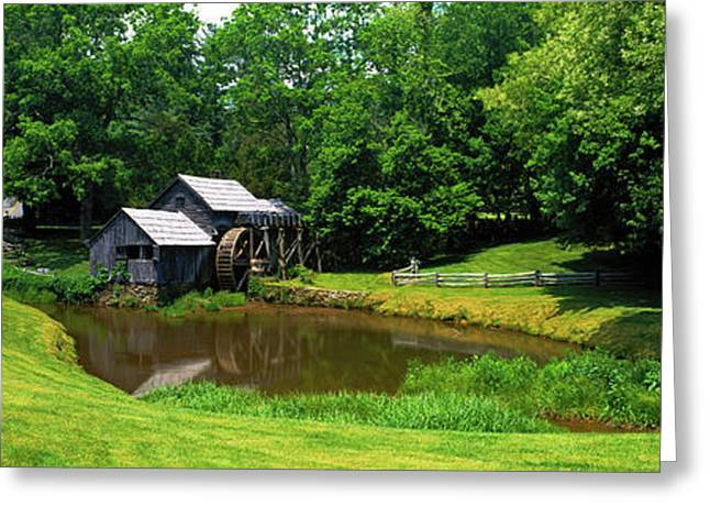 Trees Around A Watermill, Mabry Mill Greeting Card by Panoramic Images
