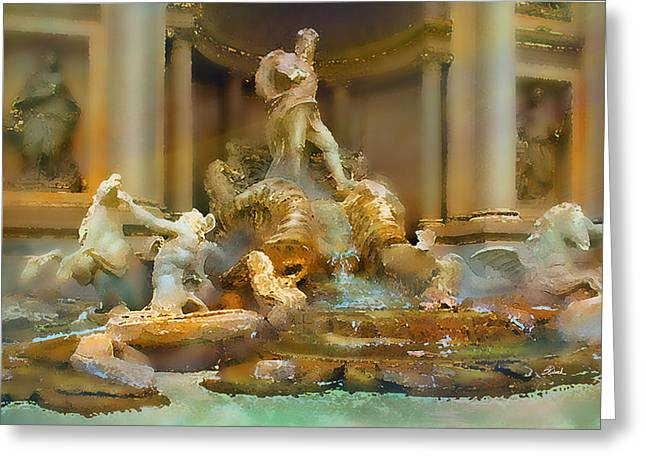 Trevi Fountain Greeting Card by Bill Quick