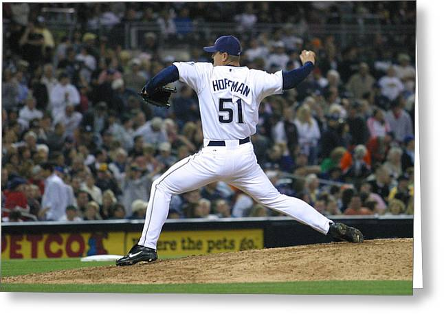 Trevor Hoffman Greeting Card by Don Olea