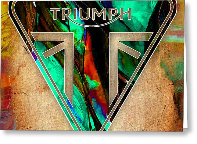 Triumph Motorcycles Greeting Card by Marvin Blaine