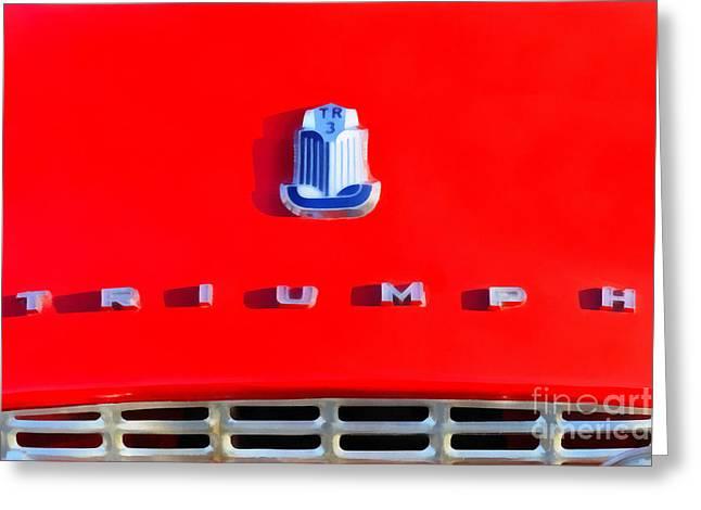 1959 Triumph Tr3a Greeting Card