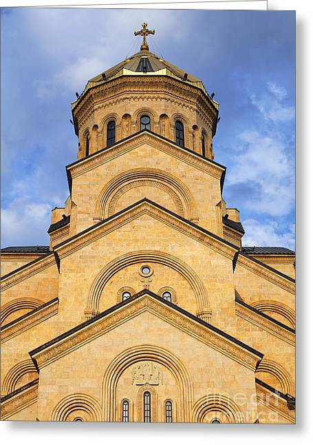 Tsminda Sameba Cathedral Tbilisi Greeting Card