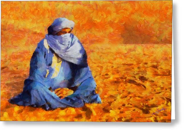 Tuareg 2 Greeting Card by George Rossidis