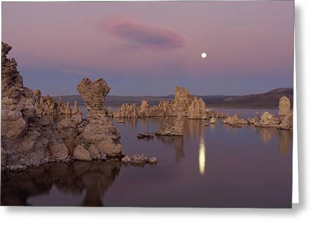 Tufa Formations In A Lake, Mono Lake Greeting Card