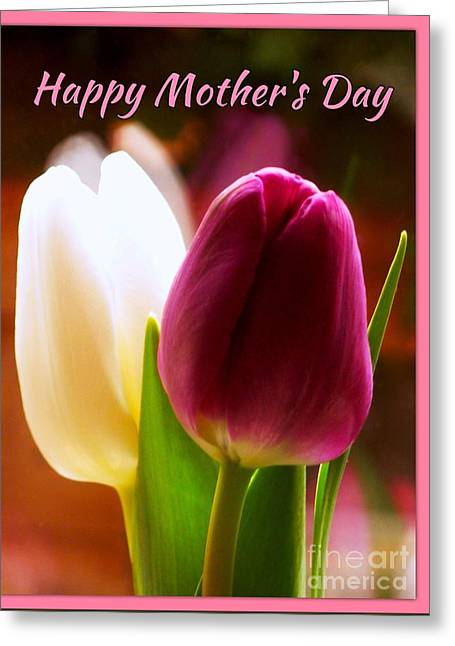 2 Tulips For Mother's Day Greeting Card