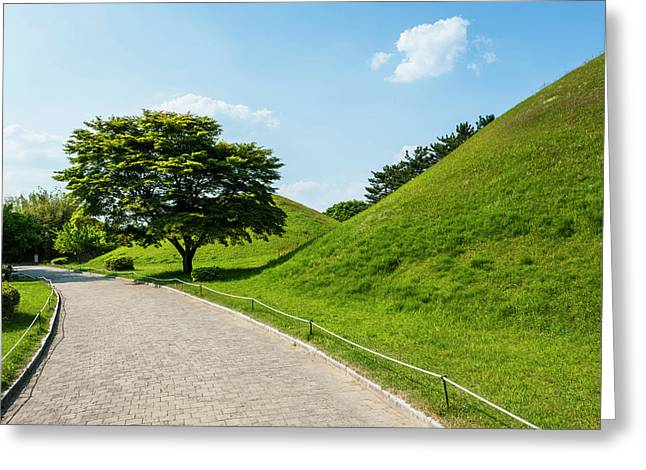 Tumuli Park With Its Tombs Greeting Card by Michael Runkel