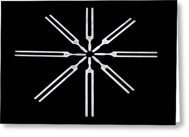 Tuning Forks Greeting Card by Science Photo Library