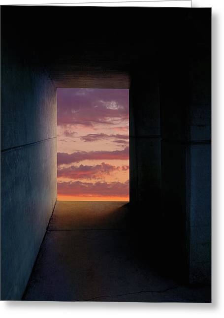 Tunnel With Light Greeting Card by Melinda Fawver