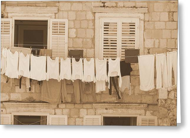 Tuscan Laundry Greeting Card