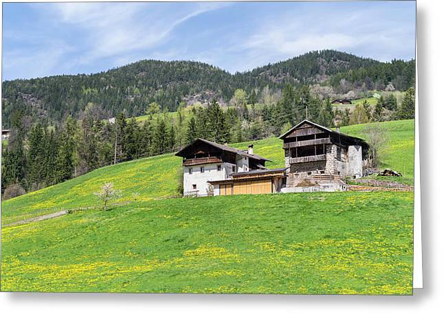 Typical Old Mountain Farms In South Greeting Card