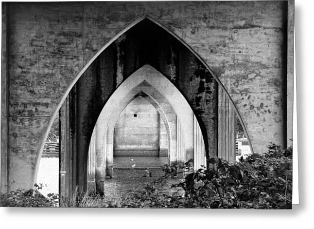 Under The Bridge Greeting Card by Katie Wing Vigil