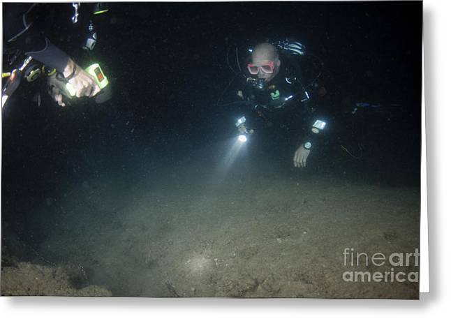 Underwater Survey Greeting Card by Hagai Nativ