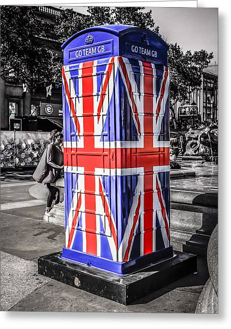 Union Jack Phone Greeting Card
