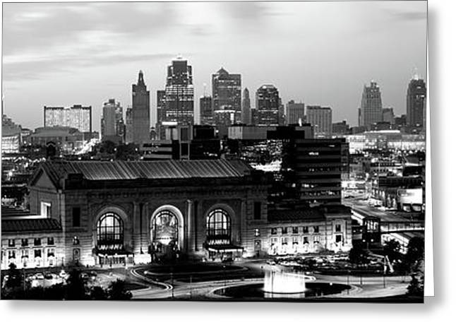 Union Station At Sunset With City Greeting Card